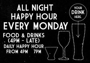 All Night Happy Hour @ The Station