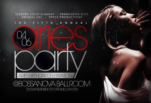 Aries Party @ Bossanova Ballroom | Aries Birthday Celebration, VIP, DJs | Portland Events, Music, Art, Entertainment, Sustainability | PDXPIPELINE.com