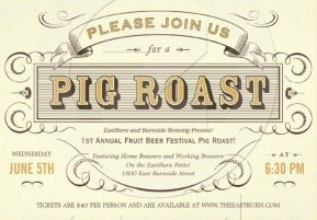 Pig Roast @ EastBurn