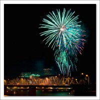 Rose Festival Fireworks Photo by Don Pyle