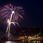 Fireworks in Hood River 2013