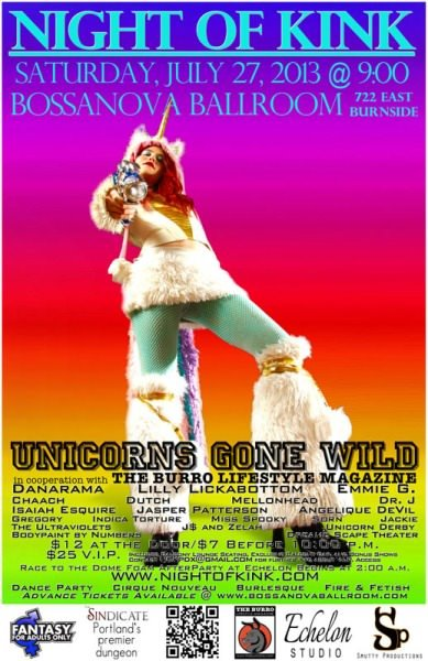 Night Of Kink: Unicorns Gone Wild 2 @ Bossanova Ballroom