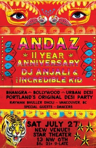 Andaz 11 year anniversary @ Star Theater