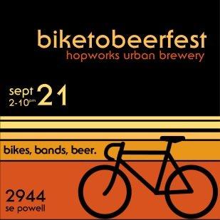 Biketobeerfest @ Hopworks Urban Brewery