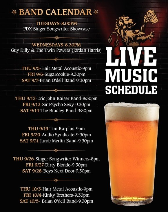 Sept. 2013 Live Music @ Thirsty Lion