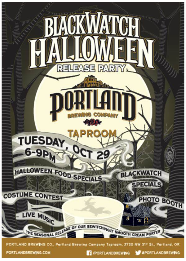 BlackWatch Halloween Release Party @ Portland Brewing Company Taproom