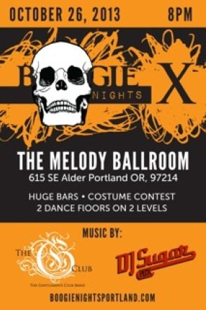 Portland Halloween Party Boogie Nights X @ The Melody Ballroom