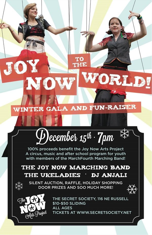 Joy Now to the World – Winter Gala and Fun-raiser @ The Secret Society
