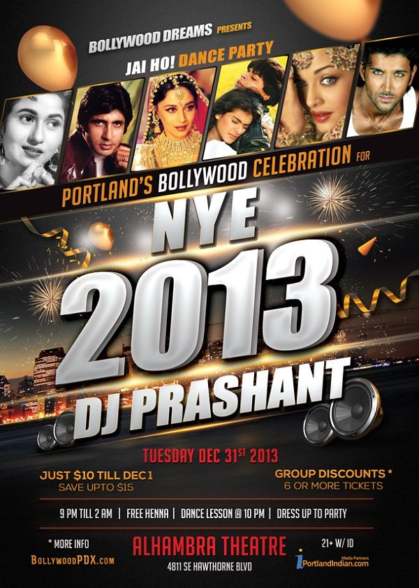 Jai Ho! Bollywood New Years Eve