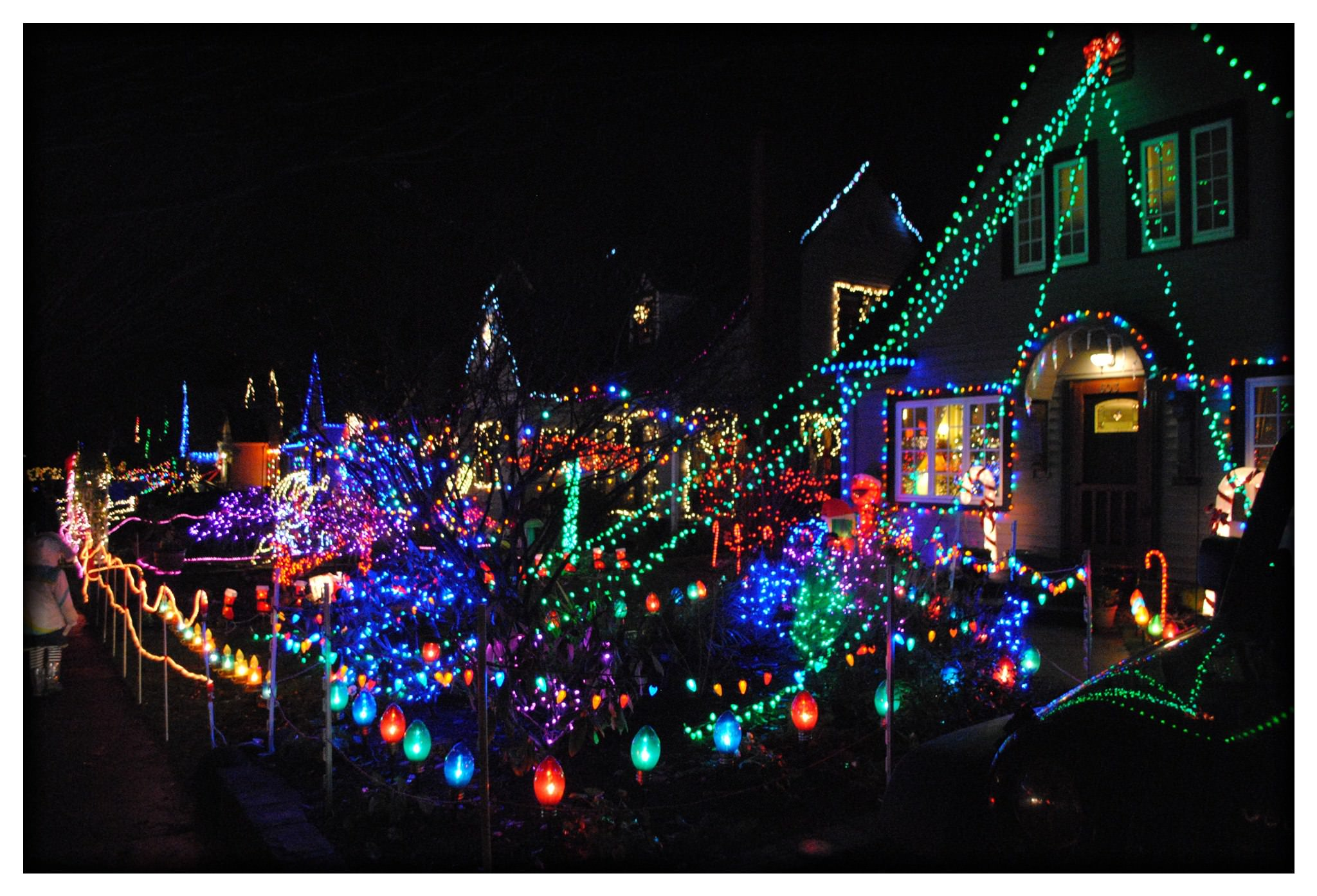 Peacock Lane Portland Holiday Christmas Lights Pictures