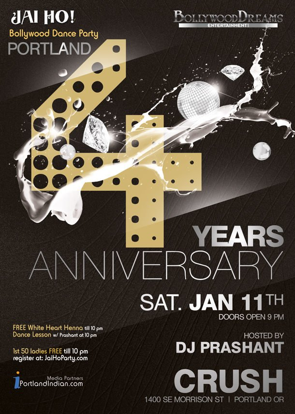 Jai Ho! Portland 4 Years Anniversary @ Crush
