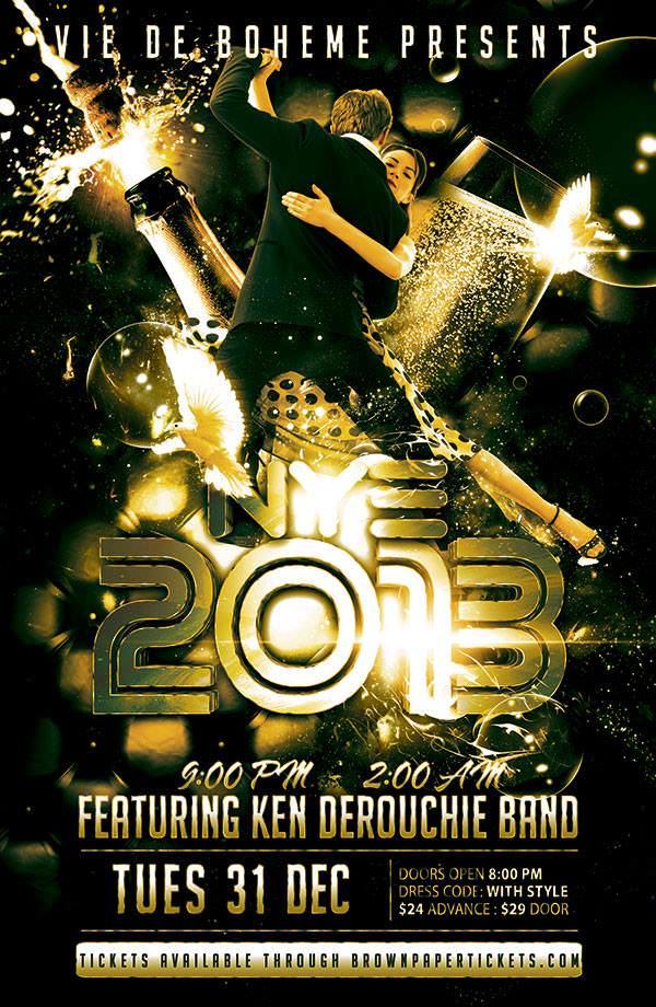 New Years Eve w/ Ken DeRouchie Band @ Vie de Boheme