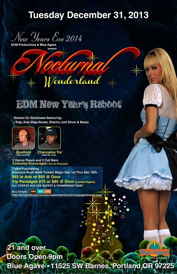 New Years Eve Nocturnal Party @ Blue Agave