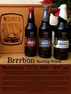 Widmer Brrbon Tasting Event