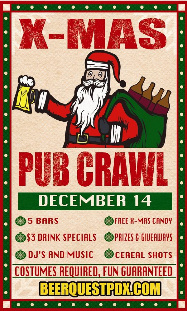 BeerQuest PDX X-Mas Pub Crawl 2013