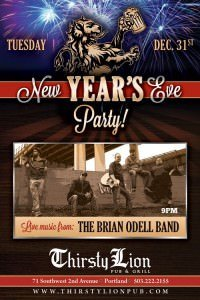 Portland New Year's Eve @ Thirsty Lion