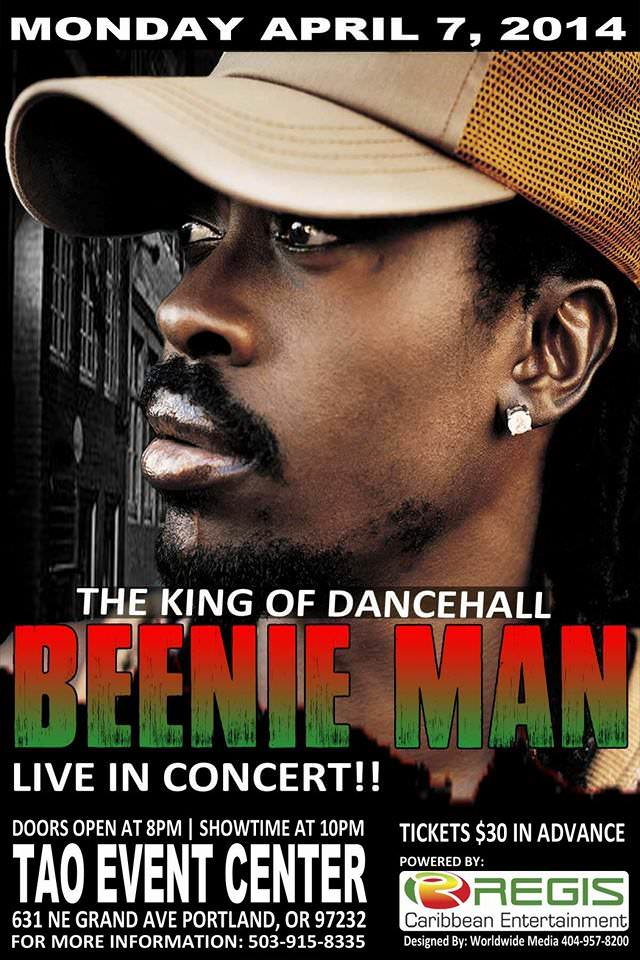 Beenie Man @ Tao Event Center