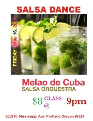 Salsa Dance Spectacular w/ Melao de Cuba @ Mississippi Pizza Pub
