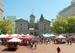 Pioneer Courthouse Square Farmers Market