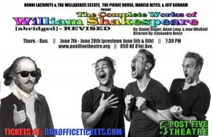 The Complete Works of William Shakespeare (abridged) @ Post5 Theatre at Milepost 5