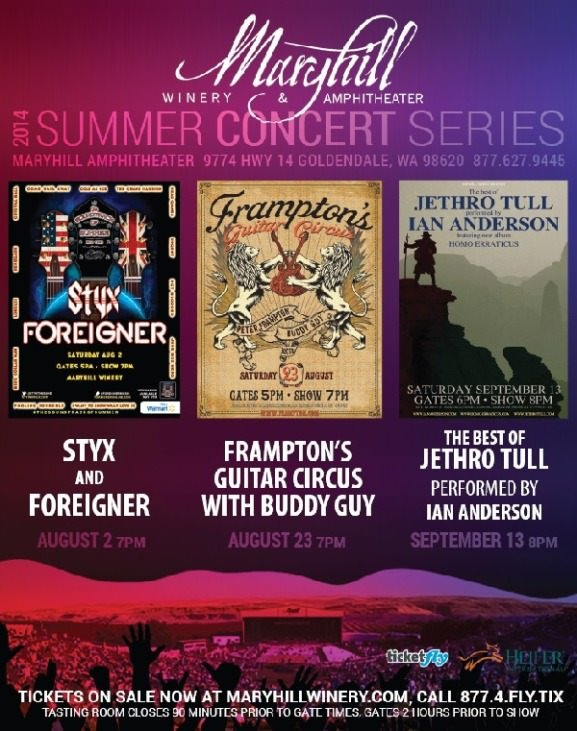 2014 Maryhill Winery Summer Concert Series