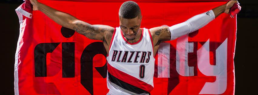damian rip city flag trail blazers