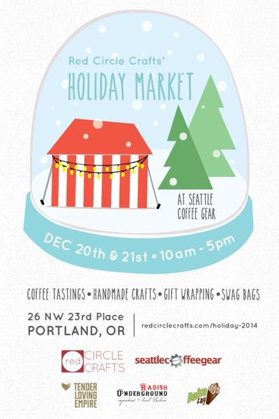 Portland christmas 2014 red circle crafts 39 holiday market for Holiday craft fairs portland oregon