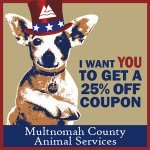 Get 25% Off Adoptions at Multnomah County Animal Services