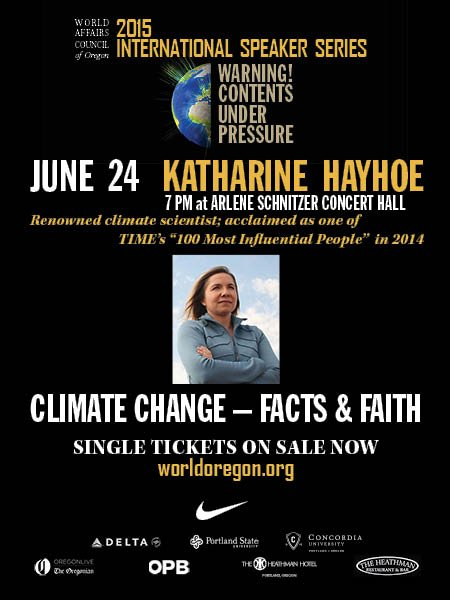 "Climate Scientist Katharine Hayhoe speaking  on ""Climate Change: Fact & Faith"""