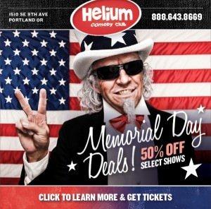 Portland 2015 memorial day sale helium comedy club for Helium comedy club