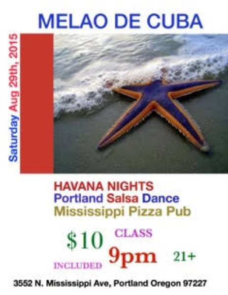 Havana Nights Salsa Dance w/ Cuban Orchestra Melao de Cuba @ Mississippi Pizza Club