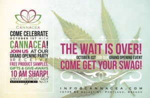 Portland Marijuana Pot Dispensary Grand Opening Party Cannacea On