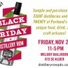Black Friday Distillery Row Portland