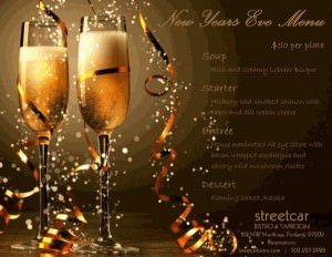 New Year's Eve Street Car Bistro