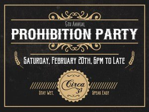 Prohibition Party Circa 33