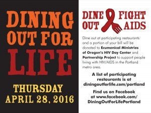 2016 Portland Dining Out for Life