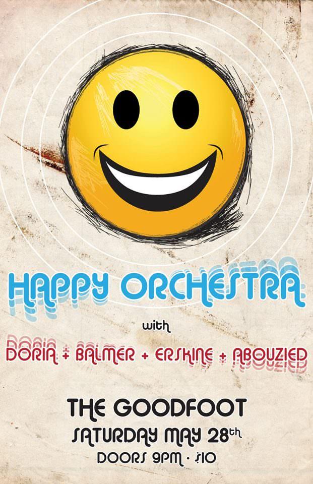Happy Orchestra w/Joe Doria, Dan Balmer, Damian Erskine & Tarik Abouzied