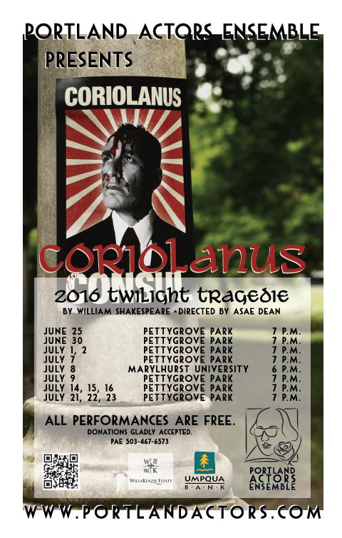 Twilight Tragedie Coriolanus-Poster