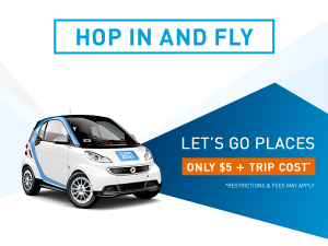Ready For Takeoff W Car2go Now Featuring Convenient Airport