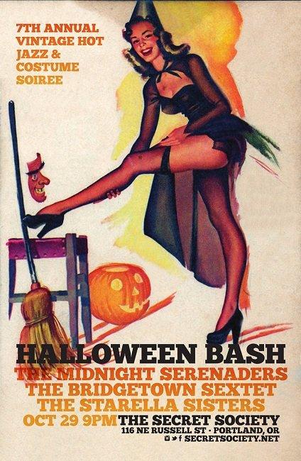 The Midnight Serenaders Portland 2016 Halloween Bash @ Secret Society