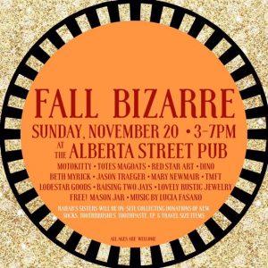 FALL BIZARRE - Art/Craft Sale with Live Music