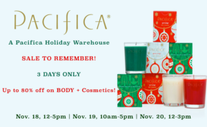 A Pacifica Holiday Warehouse SALE TO REMEMBER! | Up to 80% Off BODY ...
